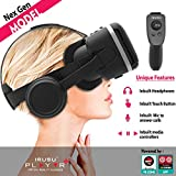 Irusu Play VR Plus VR Headset with Headphones and VR Remote Controller for iOS and Android Mobiles