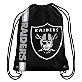 Forever Collectibles Oakland Raiders Cropped Logo Drawstring Backpack Gym Sack