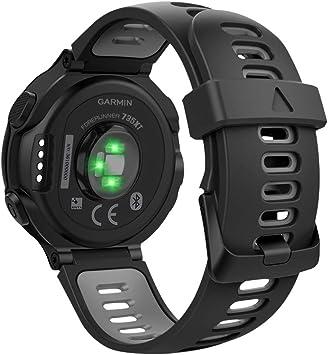 Oferta amazon: MoKo Reloj Correa para Garmin Forerunner 735XT/220/230/235/620/630, Pulsera de Silicona Respirable y Reemplazable, Banda de Reloj Deportivo con Cierre - Negro y Gris