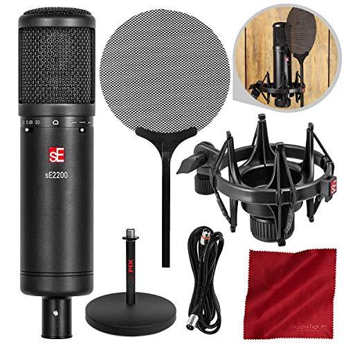 sE Electronics sE2200 Studio Condenser Cardioid Microphone with Accessory Bundle