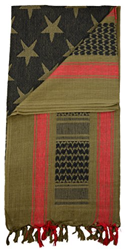Mato & Hash Military Shemagh Tactical 100% Cotton Scarf Head Wrap - Olive Drab CA2100STARS