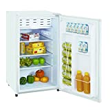 Impecca Classic Compact Refrigerator and Freezer, Single Door Reversible Door Refrigerator 3.3 cubic feet, White