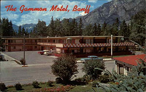 the-gammon-motel-banff-alberta-canada-original-vintage-postcard