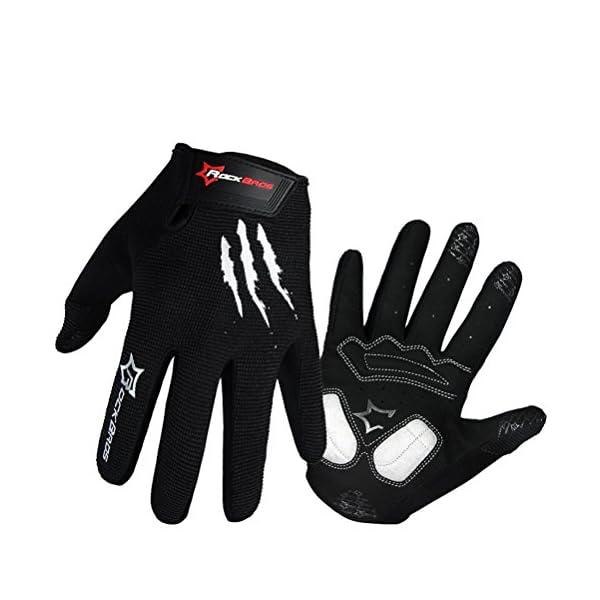Rockbros Bike Riding Gloves MTB BMX Anti-slip Cycling Mittens Full Finger Gel Pad Men's Gloves