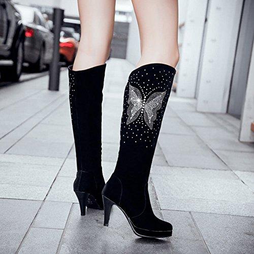 Scarpe Da Donna Eleganti Carolbar Con Strass A Forma Di Tacco Alto Nero