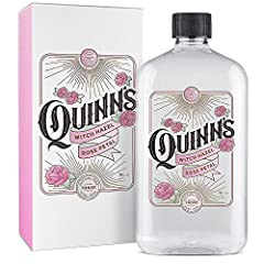 Quinn's Alcohol-Free Rose Petal & Aloe Vera Witch Hazel Toner is designed to invigorate, tone and clean your skin. Watch your skin blossom with our unique formula combining the sweetness of Rose Water with the natural goodness of Aloe Vera, and f...