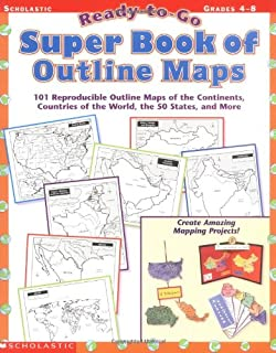 ready to go super book of outline maps 101 reproducible outline maps of
