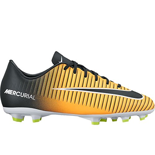 NIKE Jr. Mercurial Victory VI FG Soccer Cleat (Sz. 6Y) Laser Orange, Black