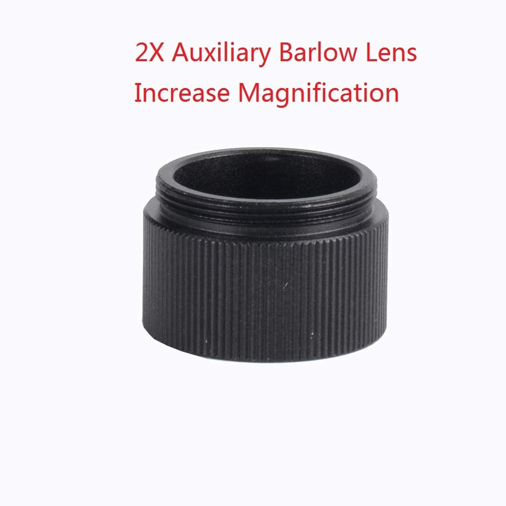 2X Barlow Lens Auxiliary Objective Lenses for Monocular Video Microscope
