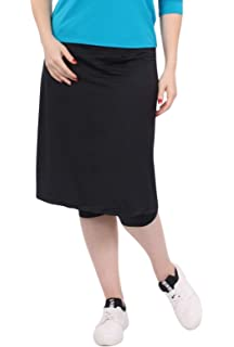 4468bc8294c9d Kosher Casual Women's Modest Knee-Length Swim & Sport Skirt with ...