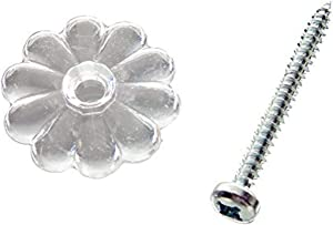 Danco Mobile Home and RV Ceiling/Wall Rosettes, Clear, 88244X