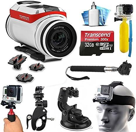 TomTom Bandit 4 K HD cámara de acción con deportes extremos Kit de accesorios incluye 32