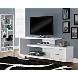"""Candace & Basil TV STAND - 60""""L / WHITE WITH 1 DRAWER"""