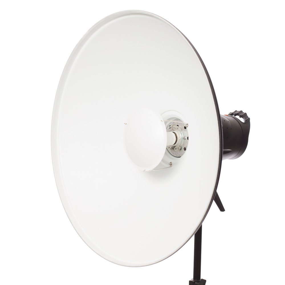Fovitec - 1x 22 inch Bowens Mount Photography Beauty Dish - [Aluminum][Lightweight][White][Strobe & Monolight Compatible][Grid Not Included] by Fovitec
