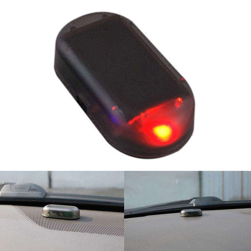 Eaglerich Red Color 1PCS Car Led Light Security System Warning Theft Flash Blinking Fake Solar Car Alarm LED Light