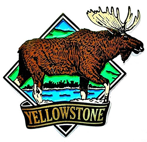 - Yellowstone National Park with Moose Fridge Magnet
