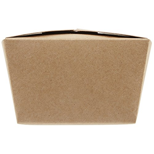 30 OZ 5 x 4.5 x 2.5 inch Disposable Paper Take Out Food Containers, Microwaveble Folding Natural Kraft to Go Boxes #1