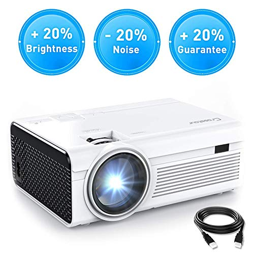 Projector, Crosstour 2020 Upgraded Mini Portable Video Movie Projector, Home Theater with 55,000 Hrs LED Lamp Supports…