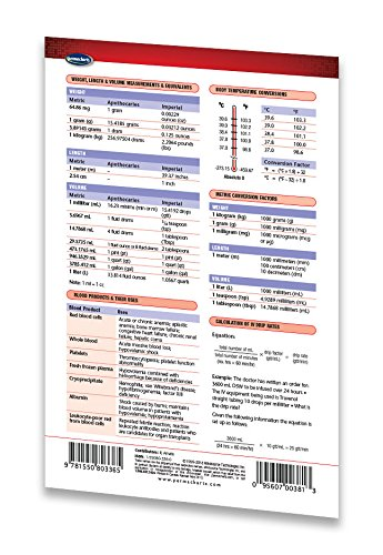 Nursing II Guide Pocket Chart Medical Quick Reference Guide by Permacharts