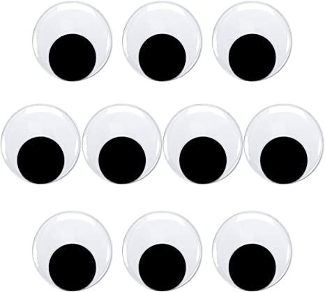 3 inches Self Adhesive Large Wiggle Eyes for Crafts 4 Pieces Giant Googly Eyes