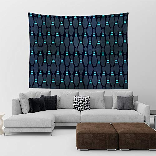 HE - Fashion Dark Bright Bowling Popular Handicrafts Printed Tapestry, tablecloths, Yoga, Picnic Sheet Wall Hangings Decor for Bedroom Living Room Dorm(60 x 40 inches) (Bowling Palm Desert)