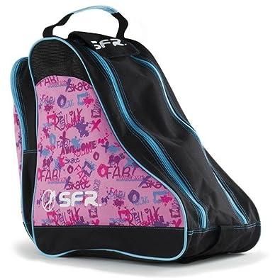 Sfr Skates Sfr Designer Ice & Skate Bag, Borse da spiaggia Unisex - Adulto Blu (Blue Leopard) 24x15x45 cm (W x H L) BAG350