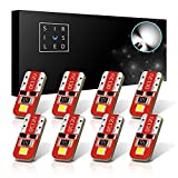 clear side markers honda prelude - SiriusLED Red Dragon Series Ultra Compact Extremely Bright Double Sided 3030 SMD 400 Lumen Auto LED Interior Light Bulbs Size 194 168 2825 Pure White Pack of 8