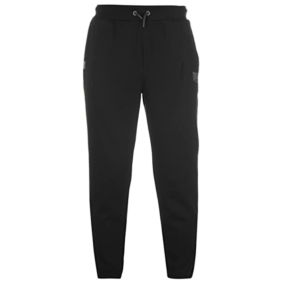 758f74cf97 Everlast Homme Jogging Pantalon Pantalon de survêtement serré aux chevilles  Noir Small