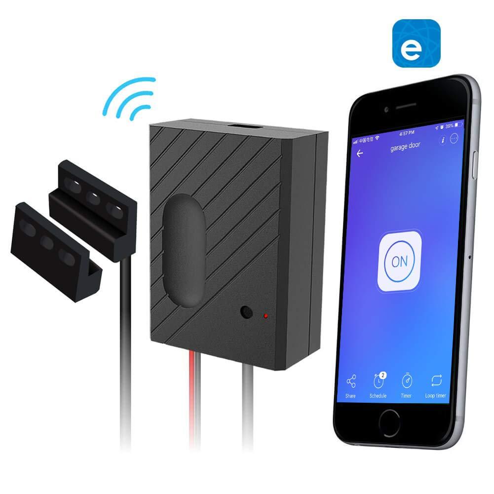 EACHEN WiFi Smart Home Garage Door Opener Wireless Remote Controller with eWelink APP, Compatible with Alexa, Google Home, Nest and IFTTT