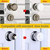 Door Knob Safety Cover 6 Pack (Gift - 10 Outlet