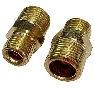 AERZETIX: 2x Conexiones reductores de aire comprimido compresor rosca 3/8-1/