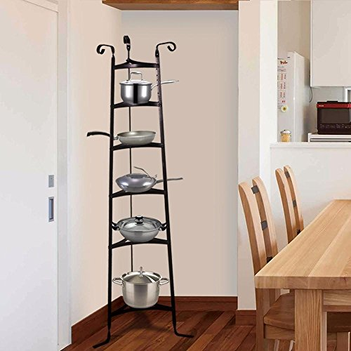 Topeakmart 6-Tier Cookware Stand, Free Standing Pot Rack