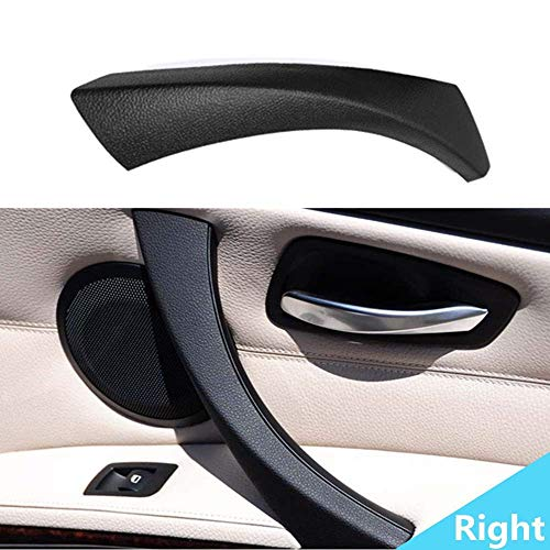 For 2004-2012 BMW 3 Series E90 E91 Outer Cover Right Interior Door Black, Inner Handle Bracket Inside Panel Trim Fit for 318 328 320 325 330 ()