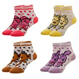 Five Nights At Freddy's Youth 4-Pack Ankle Socks w/Gift Box by Superheroes Brand