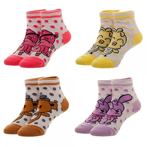 Five Nights At Freddy's Youth 4-Pack Ankle Socks w/Gift Box by Superheroes Brand by Superheros Brand