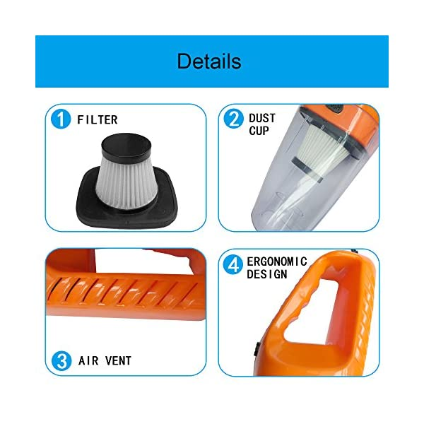 Car Vacuum Cleaner High Power Wet Dry Dust Buster Hand Vac Pet Hair Remover Crumbs Cleaner 120W 4000PA With 38 Meter Cable 12V