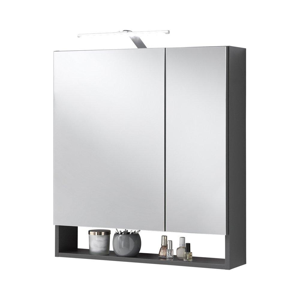 FMD Möbel 933-005 Nepal 5 - Specchio per armadio, 64 x 71,5 x 16,5 cm, antracite F00653207009_OAK