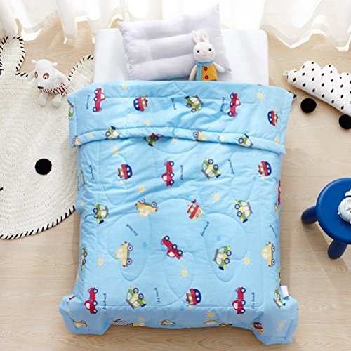 LIFEREVO Cotton Baby Toddler Blanket Spring Summer Quilt Fancy Cartoon Print Lightweight 43