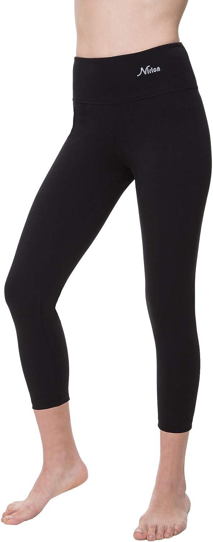 NIRLON Capri Leggings for Women 7/8 Length High Waist Workout Capri's Yoga Pants Regular & Plus Size Cotton Spandex