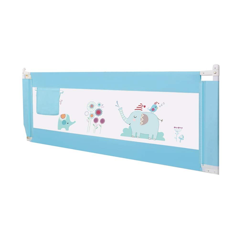 Barato Cerca de la Cama Cerca Resistente a Las roturas del bebé Elevación Vertical Barandilla de cabecera Universal 1.8-2 Metros Deflector para niños pequeños (Una Cara) (Color : Azul, Tamaño : 1.8m)