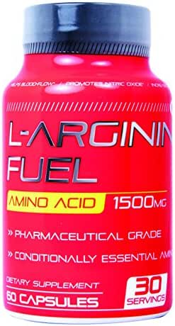 N.1 L-arginine Fuel Extra Strength L Arginine - 1500mg Nitric Oxide Booster for Muscle Growth,Vascularity & Energy   Cardio Heart Supplement Essential Amino Acids to Train Longer & Harder