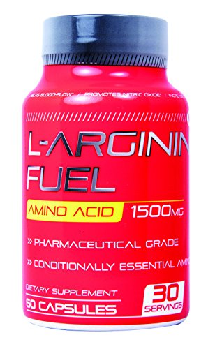 N.1 L-arginine Fuel Extra Strength L Arginine - 1500mg Nitric Oxide Booster for Muscle Growth, ,Vascularity & Energy | Cardio Heart Supplement Essential Amino Acids To Train Longer & Harder