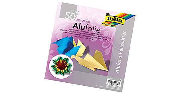 Amazon.com: Global Art Folia aluminio de papel para Origami ...