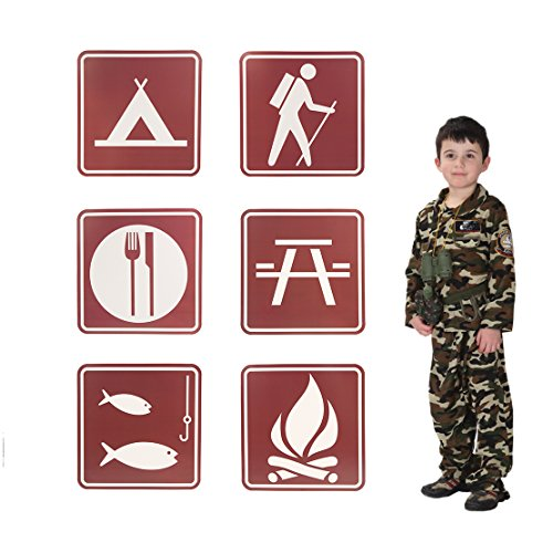 Price comparison product image Jumbo Camping Sign Cutouts for Parties and School Events