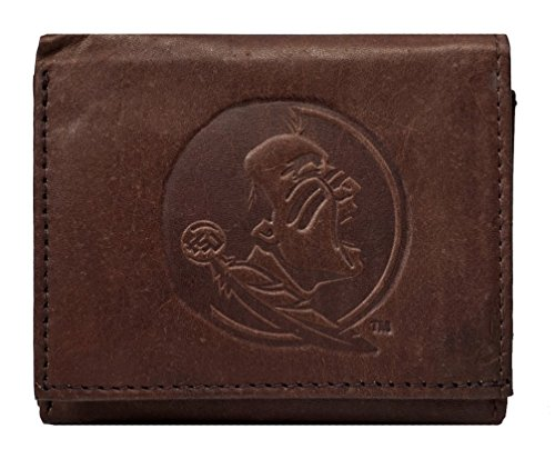 State Credit Florida Card (Rico Florida State Seminoles NCAA Embossed Logo Dark Brown Leather Trifold Wallet)