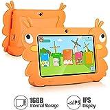 7 Inch Kids Tablet PC Quad Core 1024x600 IPS Eye Protect Display 1GB RAM 16GB Storage Bluetooth WIFI Dual Camera With Kids Educational Software Parental Control (Orange)