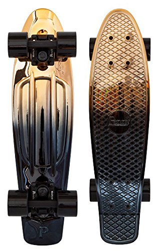 Penny Classics Complete Skateboard, Black Gold, 22'' L