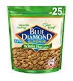Gourmet Food : Blue Diamond Almonds, Whole Natural, 25 Ounce