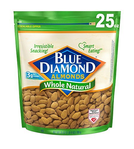 Blue Diamond Almond Growers (Blue Diamond Almonds, Whole Natural, 25 Ounce)