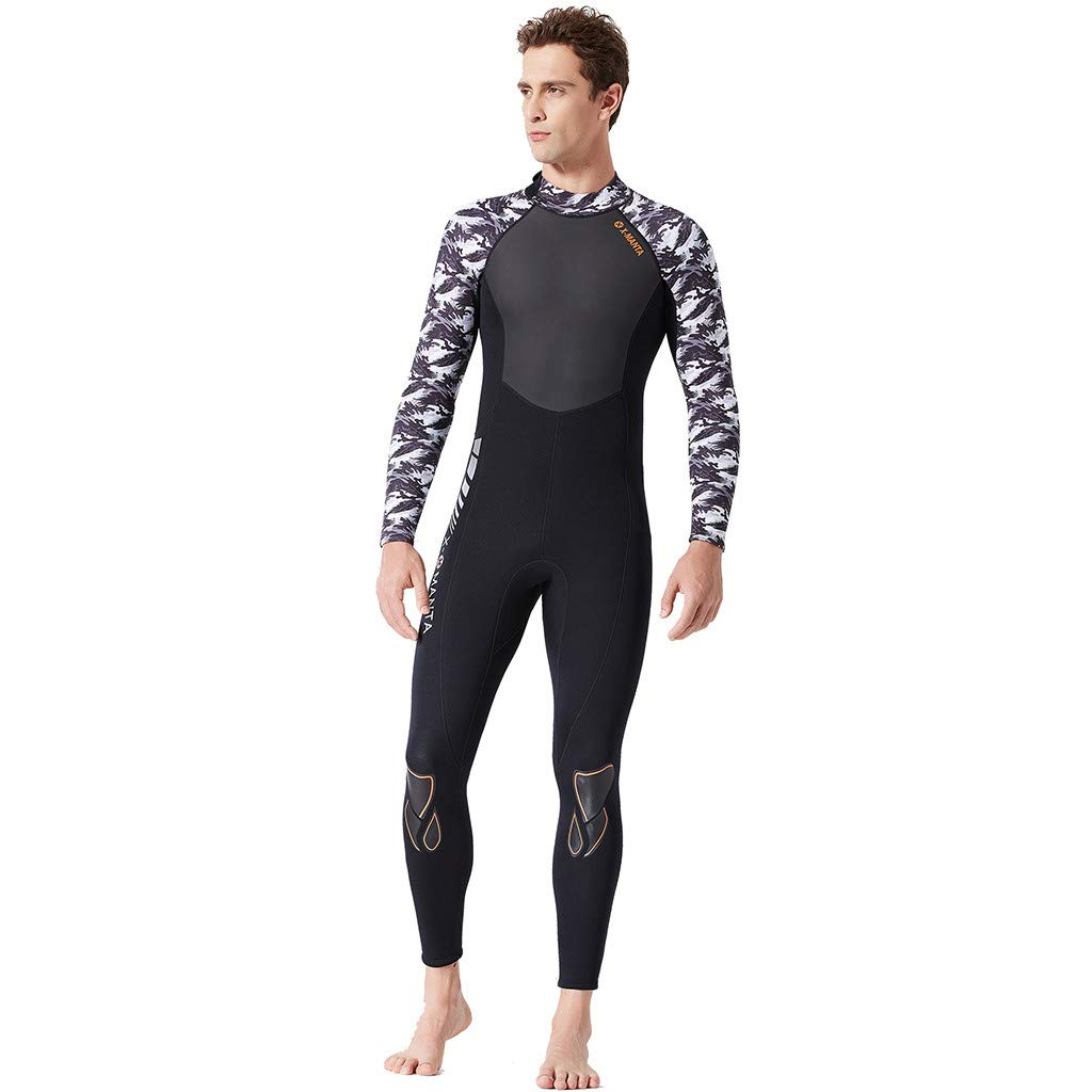 Yliquor Men's Keep Warm Sunscreen Swimming,Surfing and Snorkeling Diving Coverall SuitQuick Dry Breathable Elastic Training Comfy Classic Fashion by Yliquor (Image #4)